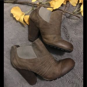 Vince Camuto distressed leather ankle booties